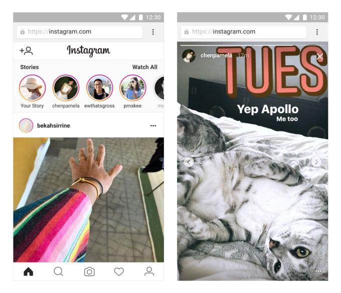 Instagram Mobil Web Yükleme