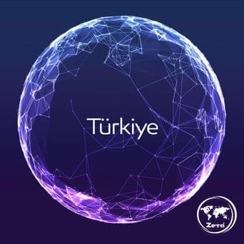 Zeta Logosu, Türkiye ve Dünya Haritası